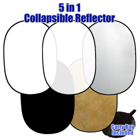Photo Studio 5-in-1 Collapsible Disc Reflector