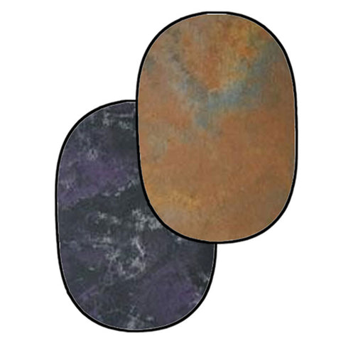 Julius Studio Reversible Pop Out Background Panel, One side Light Brown, the Other Side Purple/ Dark Gray/ Light Gray