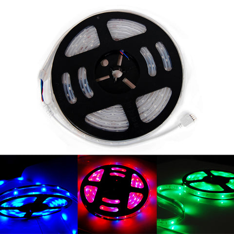 Waterproof 3528 RGB LED SMD Light Strip 5M 300LED Flexible Lamp 12V