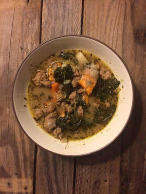 Sausage, Kale, & Sweet Potato Soup