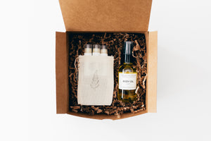 Body Oil + Lip Balm Trio Gift Set