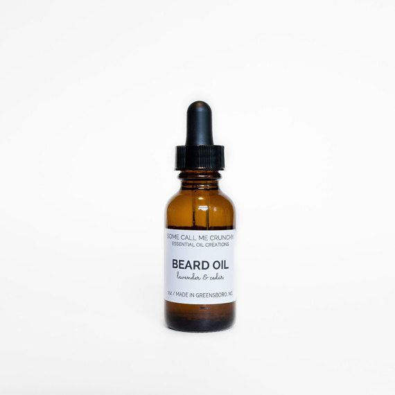 Beard Oil, All Natural- Cedarwood + Lavender