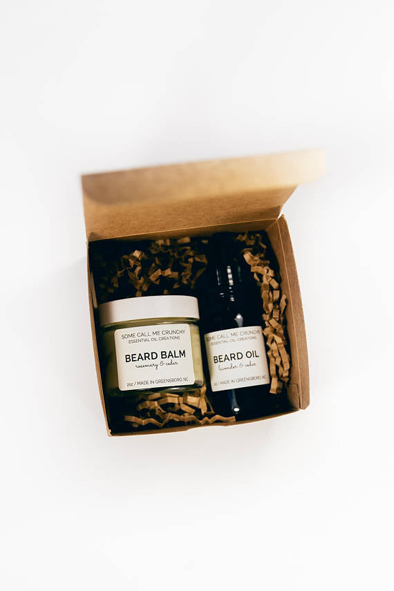 Beard Care Holiday Gift Box ~ Beard Balm & Beard Oil