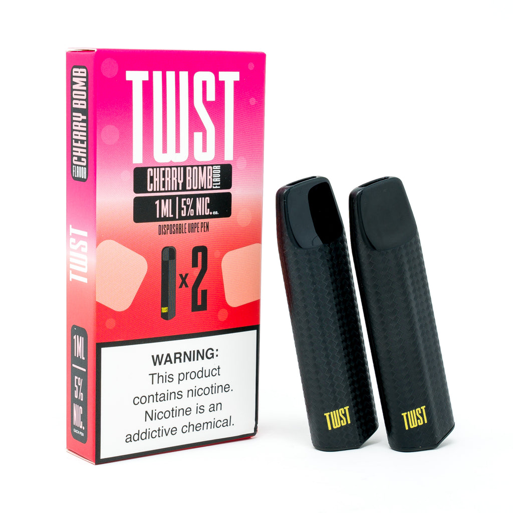 Cherry Bomb Disposable 2 Pack by TWST E-liquids