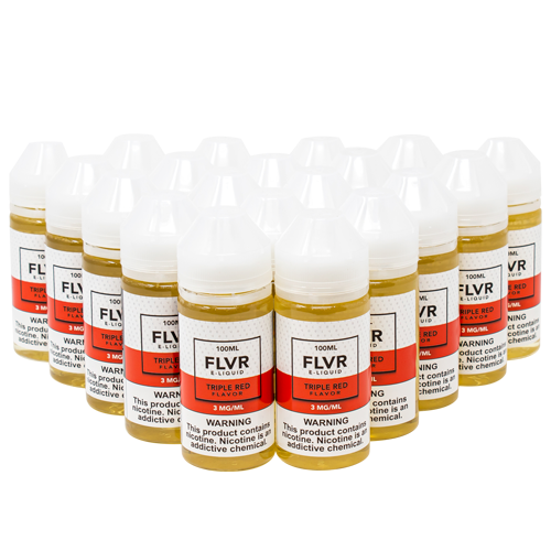 Triple Red 100ML Bundle By FLVR E-Liquid