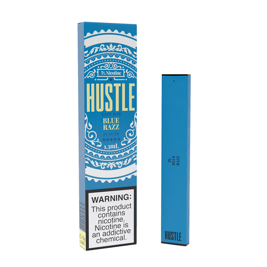Blue Razz Disposable by Hustle