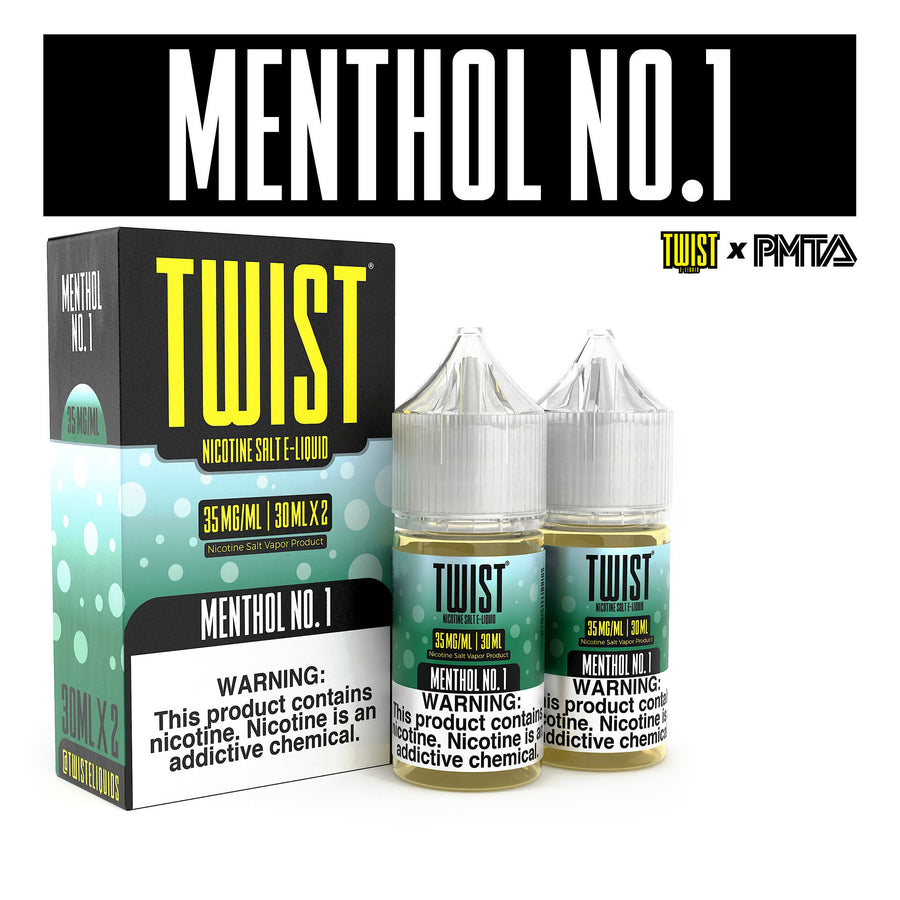 Menthol No.1 Salt 60ML By Twist E-Liquids