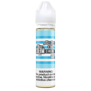 Blue Razz Cotton Candy Ice Cream 60ML By Nice Cream E-Liquid
