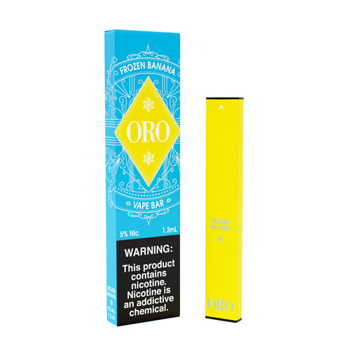 Frozen Banana Disposable Single Pack by ORO Vape Bar