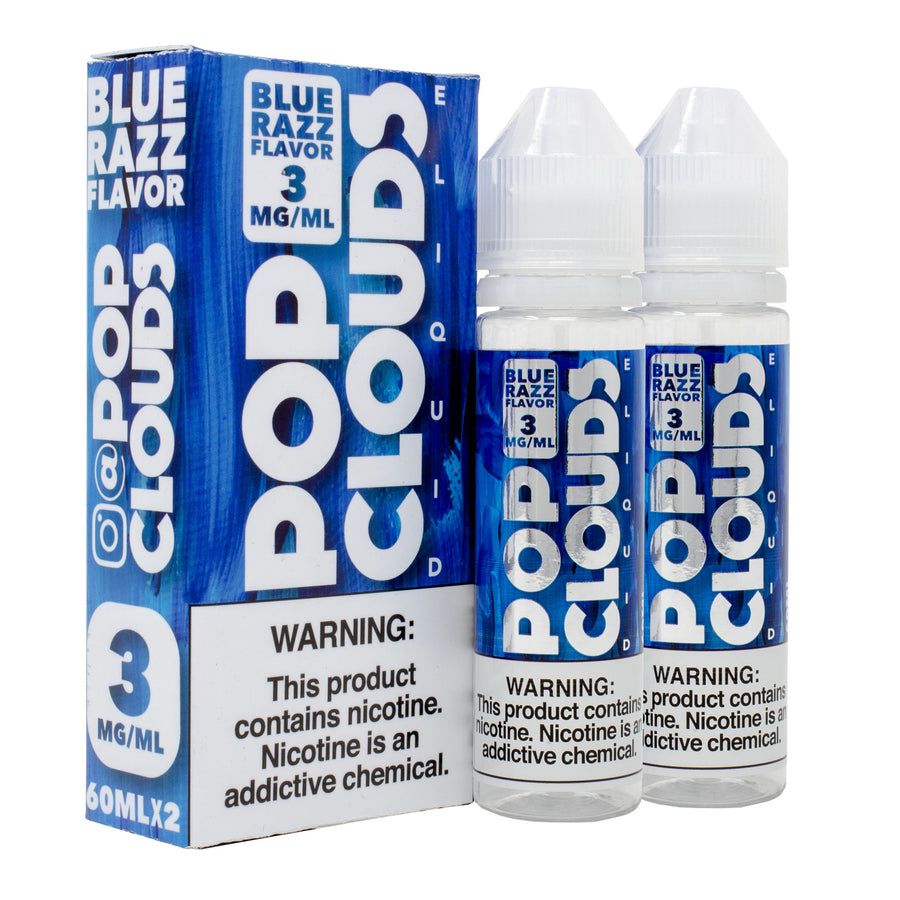Blue Razz Candy 120ML By Pop Clouds E-Liquid