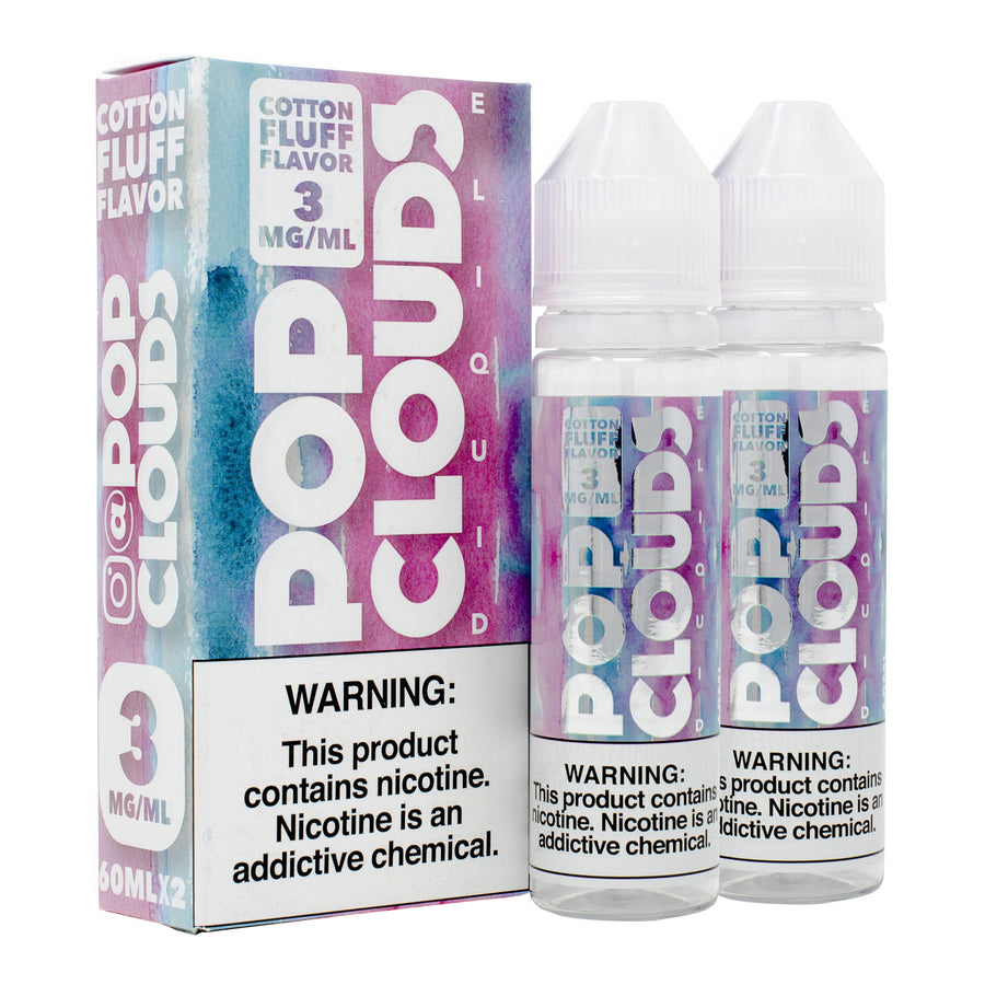 Cotton Candy 120ML By Pop Clouds E-Liquid - E-Juice - Vape Juice