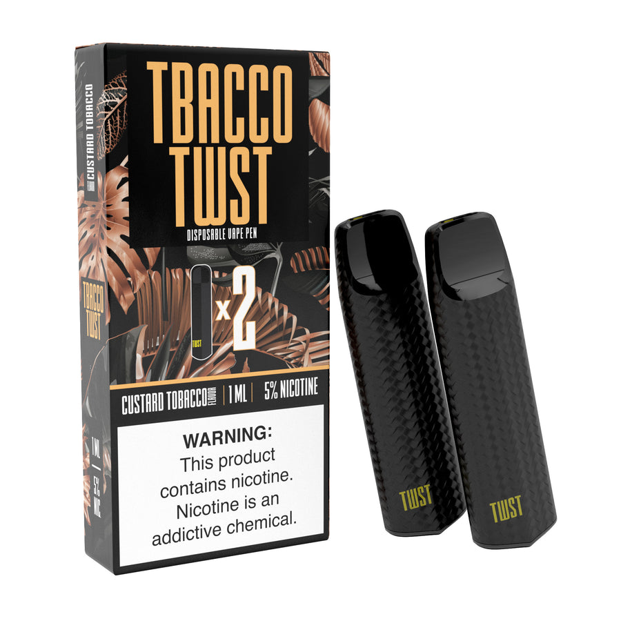 Custard Tobacco Disposable 2 Packs by TWST E-liquids