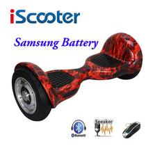 IScooter hoverboard 10 inch Bluetooth 2 Wheel Self balancing Electric Scooter Two Wheel 10'' with Remote key And LED Skateboard