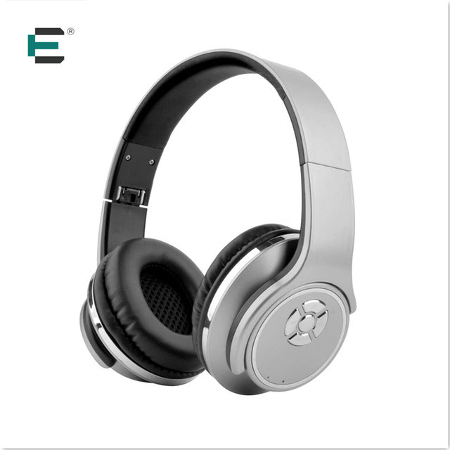 ET Bluetooth 4.2 Stereo Surround Sound Foldable Wireless Headset Micro SD Player 2 in 1 Bluetooth earphones Speaker Headphone