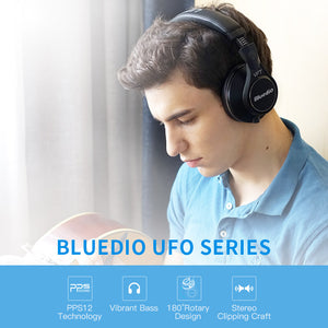 Bluedio UFO PLUS 3D Bass Bluetooth headset Patented 12 Drivers HiFi