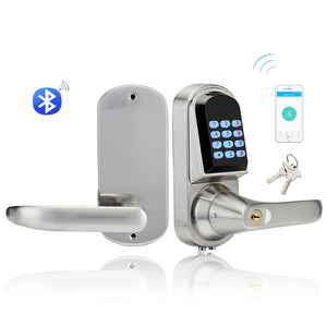 Home Bluetooth Smart Lock Mini Electronic Keypad Digital Door Lock Unlock With Code, smart phone App and Mechanical Key