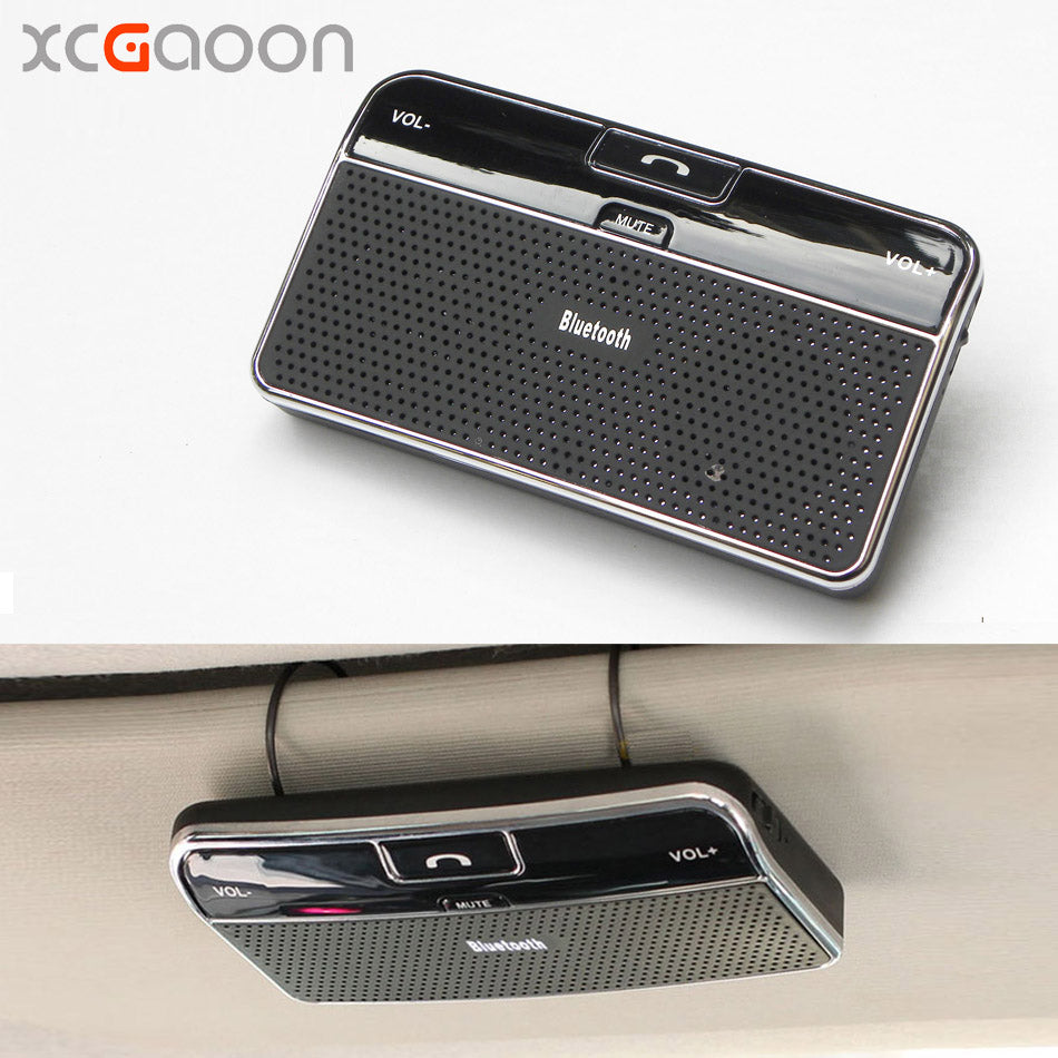 XCGaoon Wireless Bluetooth Handsfree Car Kit Speakerphone Sun Visor Clip For iPhone & All Mobiles Build in Mic & Speaker