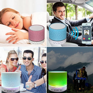 Wireless LED Bluetooth Speaker Stereo Sound Hands free Call Mini Portable Light Subwoofer