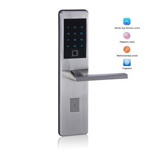 Intelligent Bluetooth Smart Door Lock Biometric Double sided Fingerprint Lock for Home Apartment Gate Lock