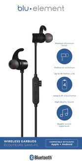 Bluetooth Earbuds Black - GekkoTech
