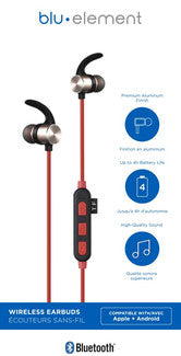 Bluetooth Earbuds Red - GekkoTech