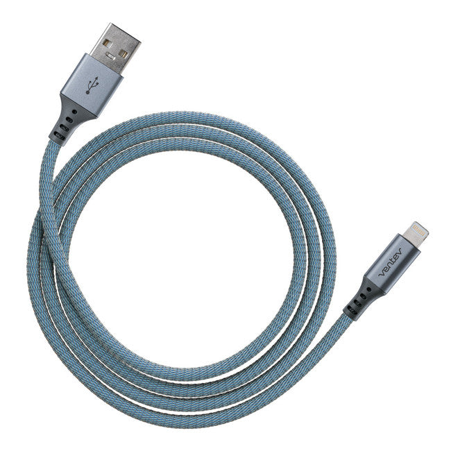 Charge/Sync Metallic Cable Lightning 4ft Blue - GekkoTech