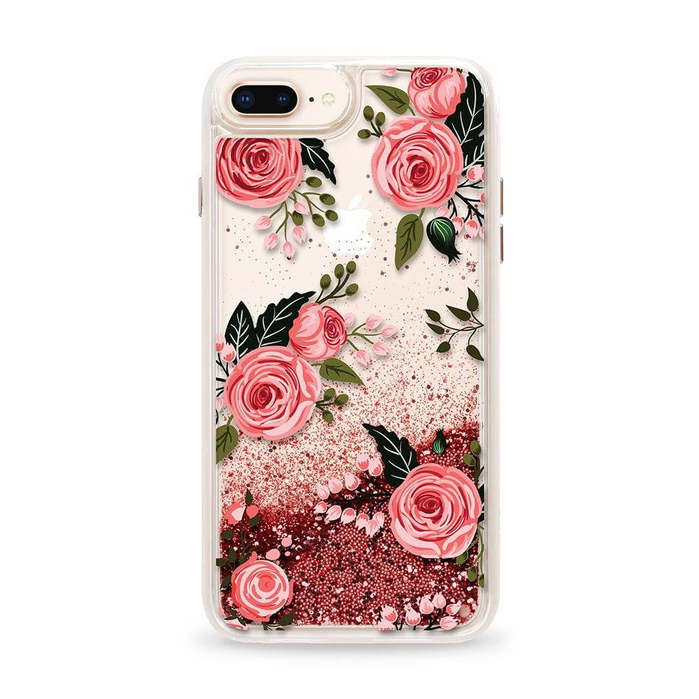 Casetify - Glitter Case Pink Floral Flowers (Pink) for iPhone 8 Plus/ 7 Plus/ 6S Plus/ 6 Plus - GekkoTech