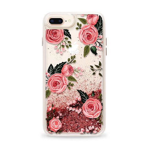 Casetify - Glitter Case Pink Floral Flowers (Pink) for iPhone 8 Plus/ 7 Plus/ 6S Plus/ 6 Plus