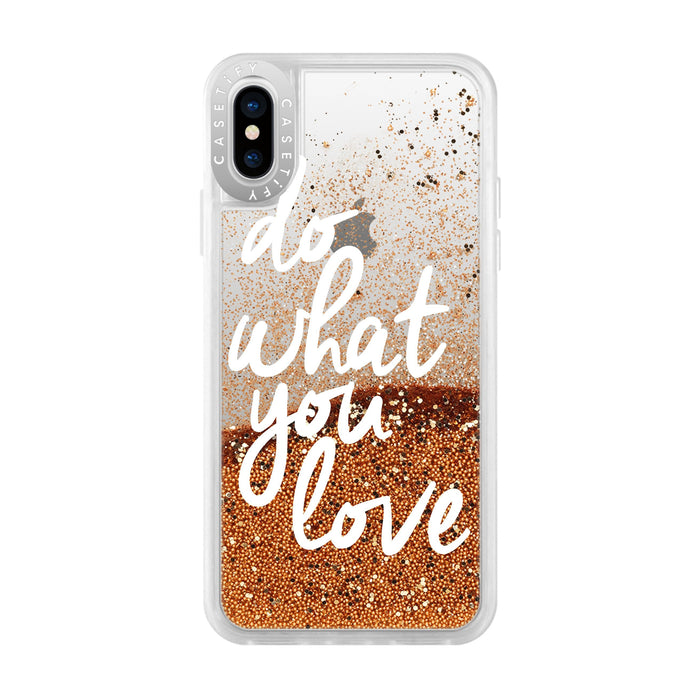 Casetify - Glitter Case Do What You Love (Gold) for iPhone Xs - GekkoTech