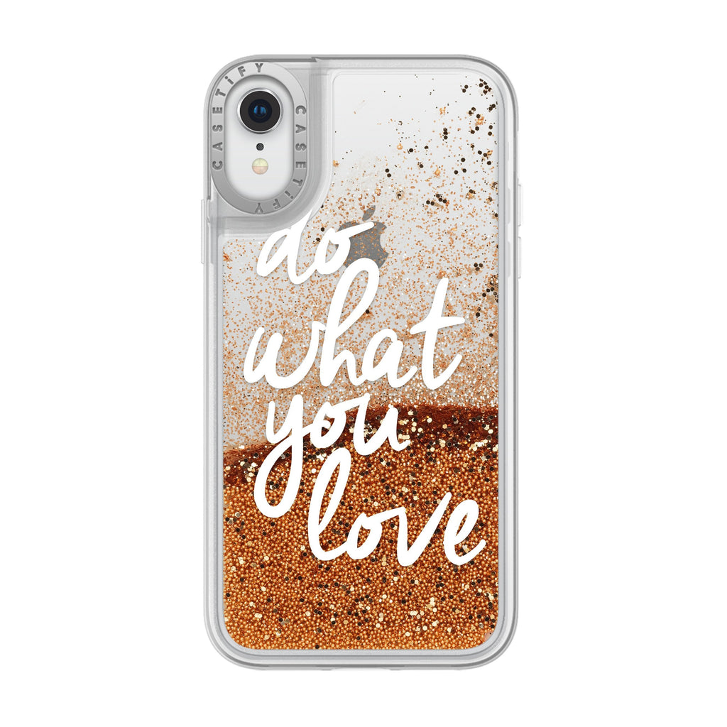 Casetify - Glitter Case Do What You Love (Gold) for iPhone XR - GekkoTech
