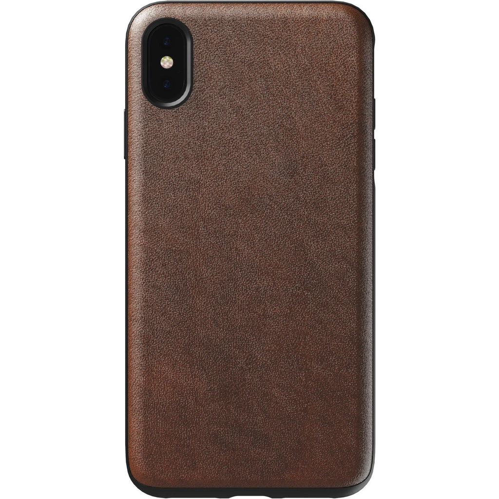 Nomad - Rugged Leather Case Rustic Brown for iPhone Xs Max - GekkoTech