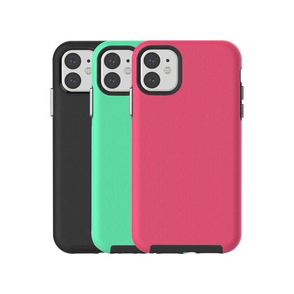 Blu Element - Armour 2X Fresh Kit Case Black/Pink/Teal for iPhone 11 - GekkoTech