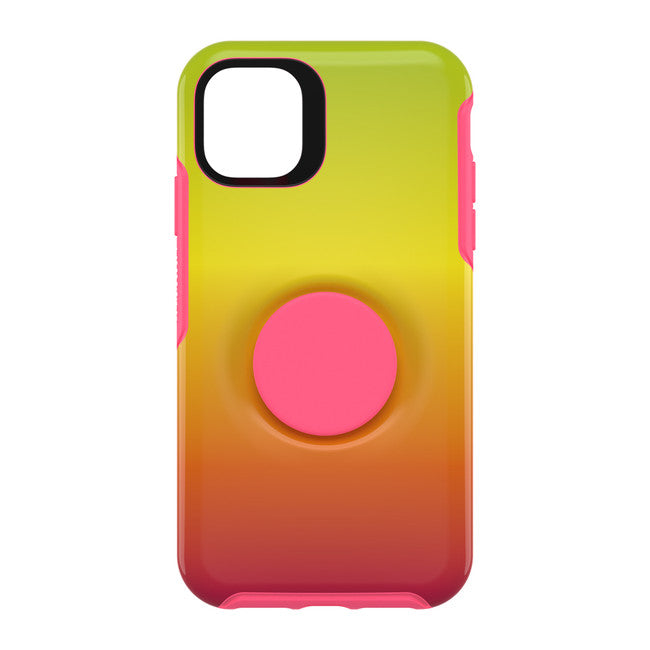 Otter + Pop Symmetry Case with Swappable PopTop Island Ombre for iPhone 11