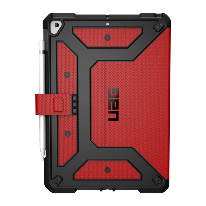UAG - Metropolis Rugged Folio Case Magma (Red) for iPad 10.2 2020 8th Gen/iPad 10.2 2019 7th Gen