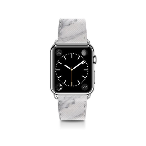 Casetify - Saffiano Leather Band White Marble for Apple Watch 38mm - GekkoTech