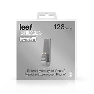Leef iBridge3 Silver 128GB Mobile Memory - IOS - GekkoTech