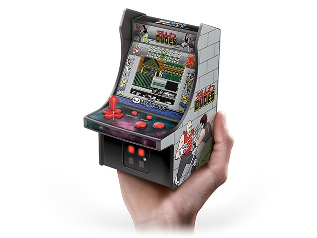 My Arcade Bad Dudes Micro Player - 6.75 Inch Mini Retro Arcade Machine Cabinet