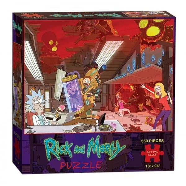 Rick and Morty Puzzle 550 Pieces - GekkoTech