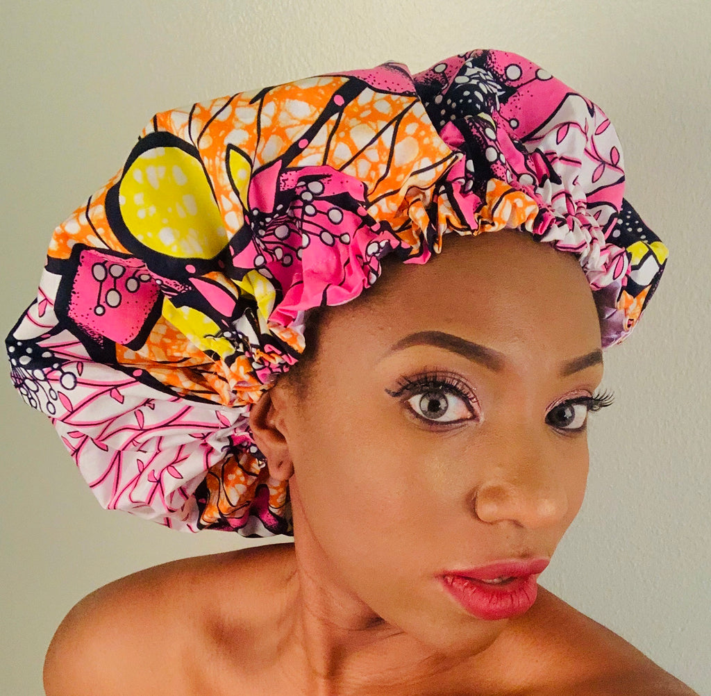 AFRICAN PRINT HEAD WRAPS/BONNET