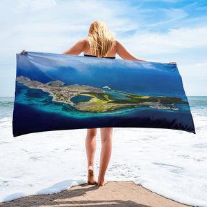campellovision.com Gran Roque above clouds - Towel