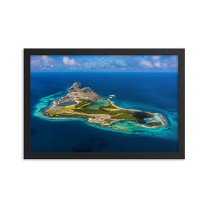 campellovision.com 12×18 Gran Roque - Framed photo paper poster