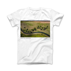 campellovision.com t-shirt Palms Trees+Road T-shirt