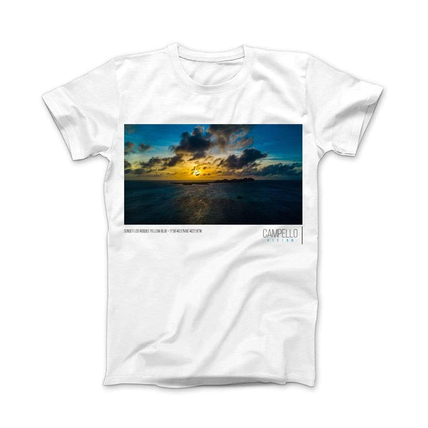 campellovision.com t-shirt Sunset Los Roques Yellow Blue T-shirt