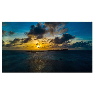 campellovision.com wallpaper Sunset Los Roques Yellow Blue