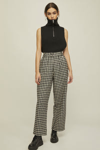 shop nati pants checkered by rita row at thegreenlabels