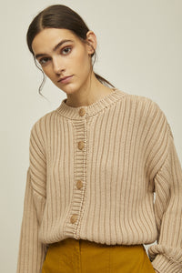 shop litta knitted cardigan nude by Rita Row at thegreenlabels