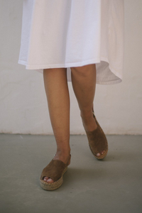 shop beck strap camel espadrilles by Alohas on thegreenlabels