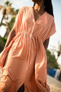 shop aretha maxi dress dusted clay by Clo Stories on thegreenlabels