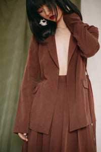 Shop tie blazer rust by Cossac at thegreenlabels