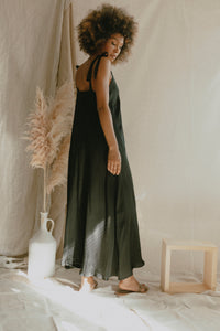 shop maxi dress black by Cossac on thegreenlabels